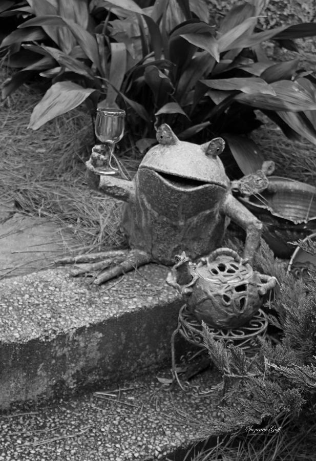 Black And White Photograph - Cheers In Black And White by Suzanne Gaff