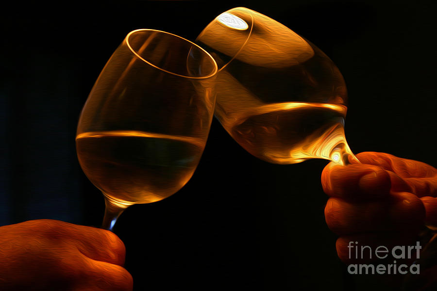 Alcohol Digital Art - Cheers by Patricia Hofmeester