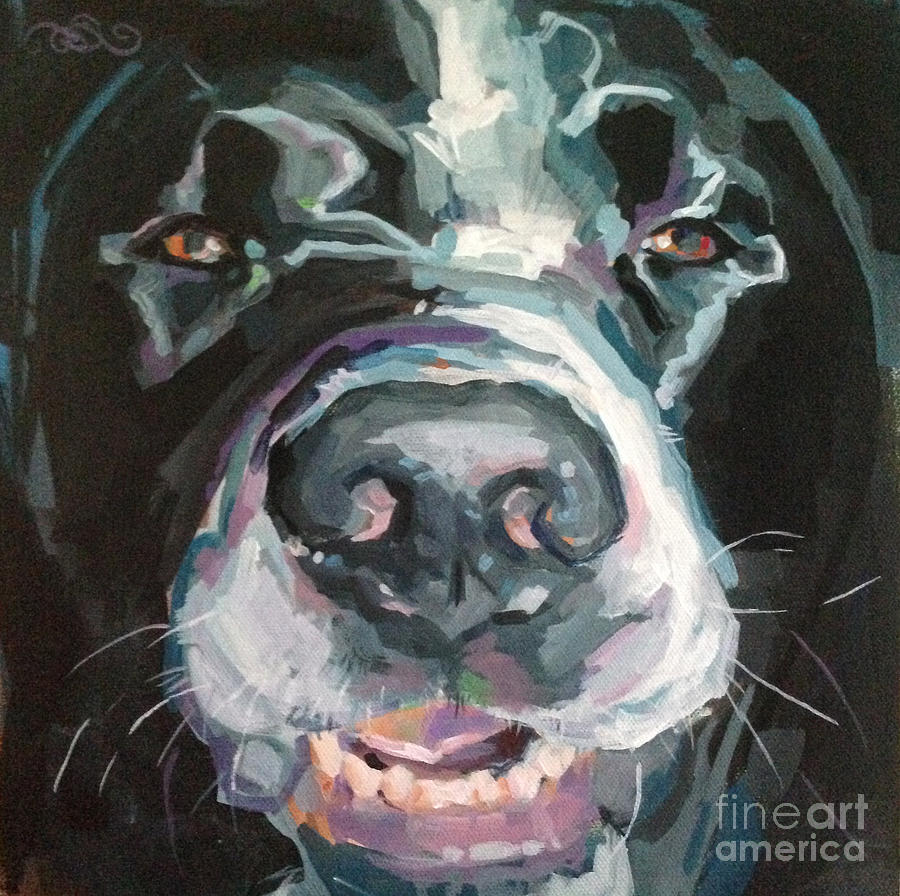 Pet Portrait Painting - Cheese by Kimberly Santini