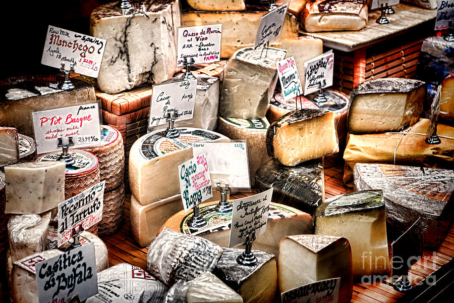 Cheese Photograph - Cheese Shop by Olivier Le Queinec