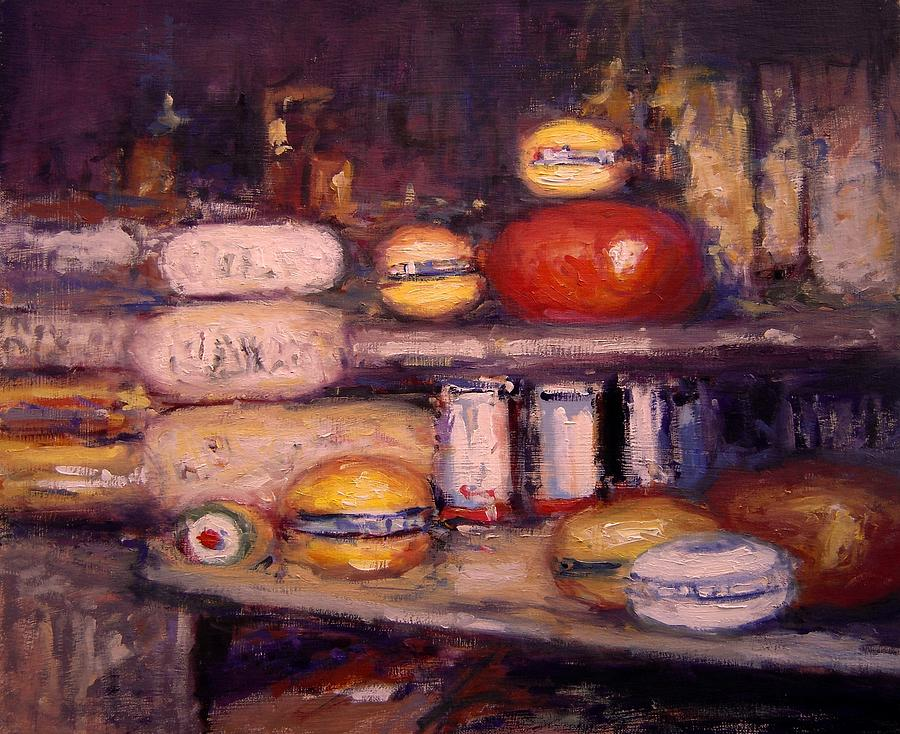 Cheese Painting - Cheese Shop Window by R W Goetting