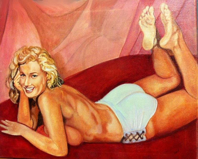 Marilyn Monroe Painting - Cheesecake Marilyn by John Kennedy Wilson