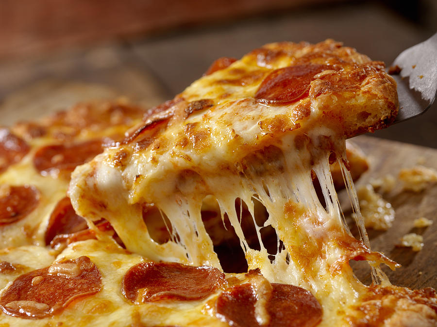 Cheesy Pepperoni Pizza Photograph by LauriPatterson