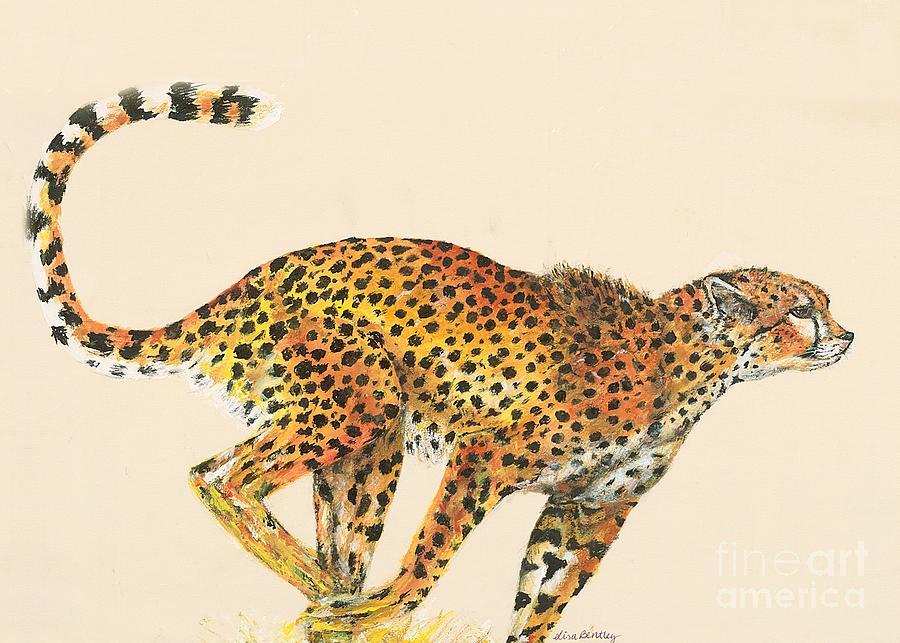 Cheetah Painting - Cheetah Painting by Lisa Bentley
