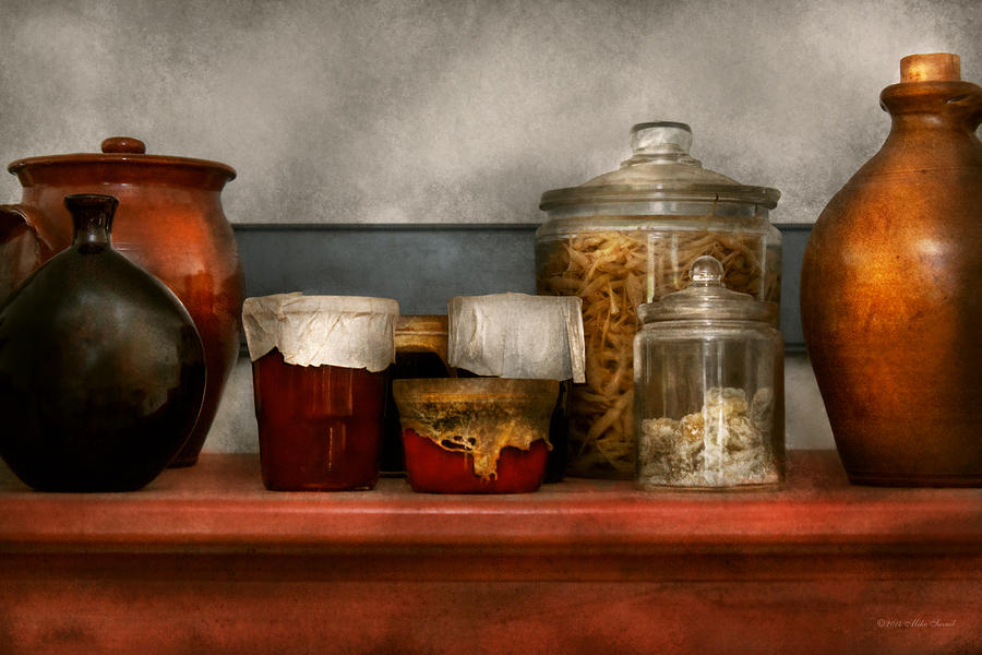 Chef Photograph - Chef - Aunt Bessies mantle by Mike Savad