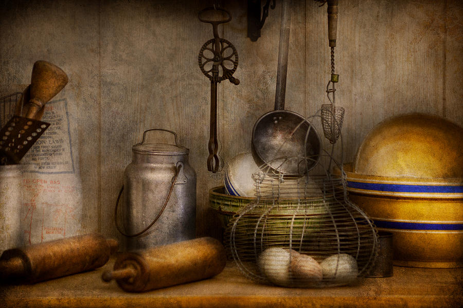 Chef Photograph - Chef - Ingredients - Breakfast at grandpas by Mike Savad