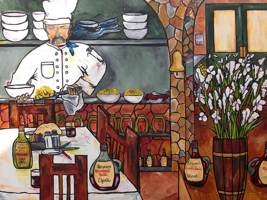 Restaurant Painting - Chef On Line by Patti Schermerhorn