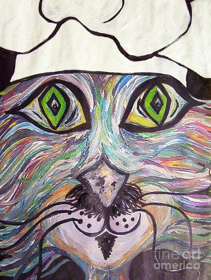 Professional Painting - Chef Pierre ... A Cat With Good Taste by Eloise Schneider