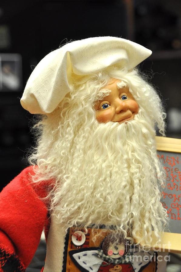 Christmas Photograph - Chef Santa by Vinnie Oakes
