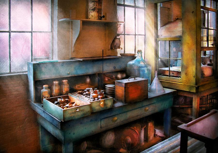 Savad Photograph - Chemist - Making Glue by Mike Savad