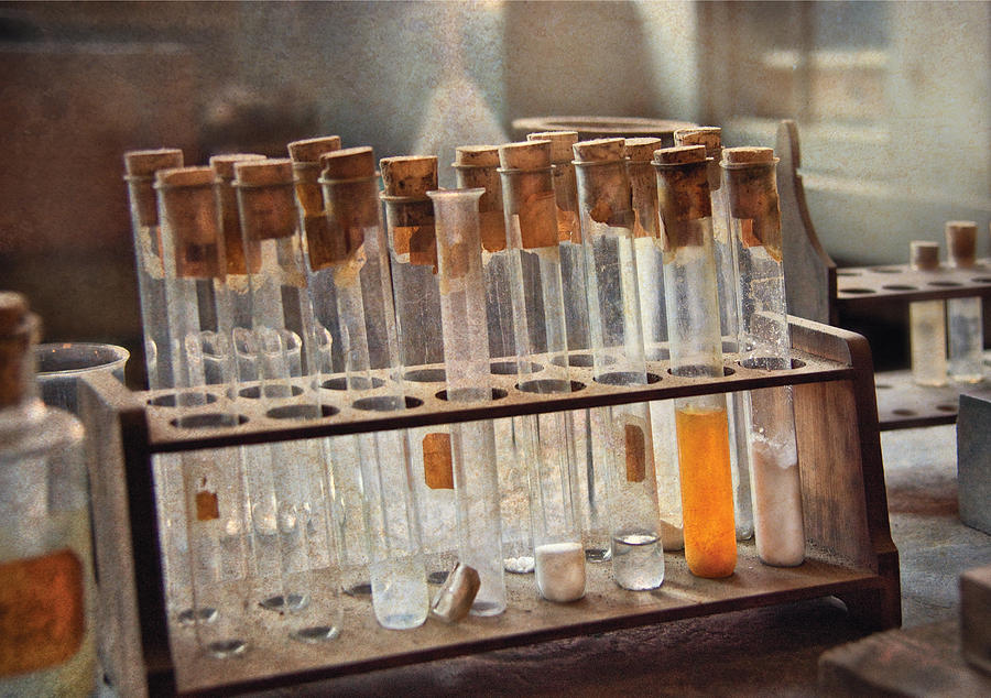 Vials Photograph - Chemist - Specimen by Mike Savad