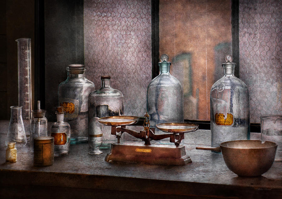 Hdr Photograph - Chemist - The Art Of Measurement by Mike Savad