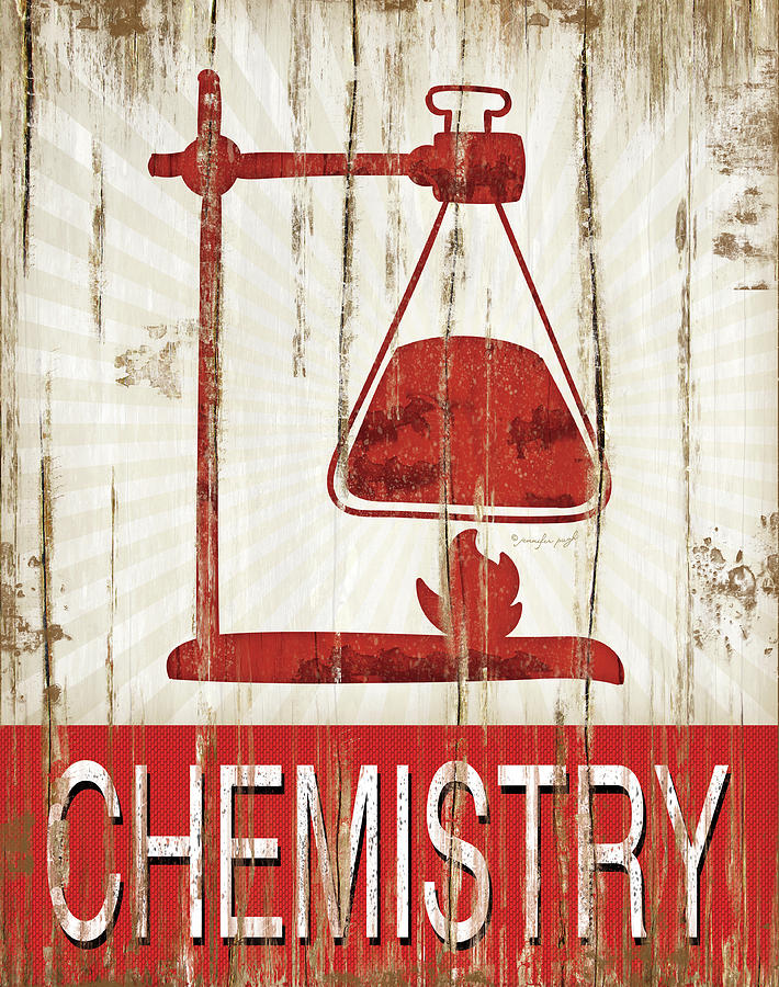 Sentiment Painting - Chemistry by Jennifer Pugh