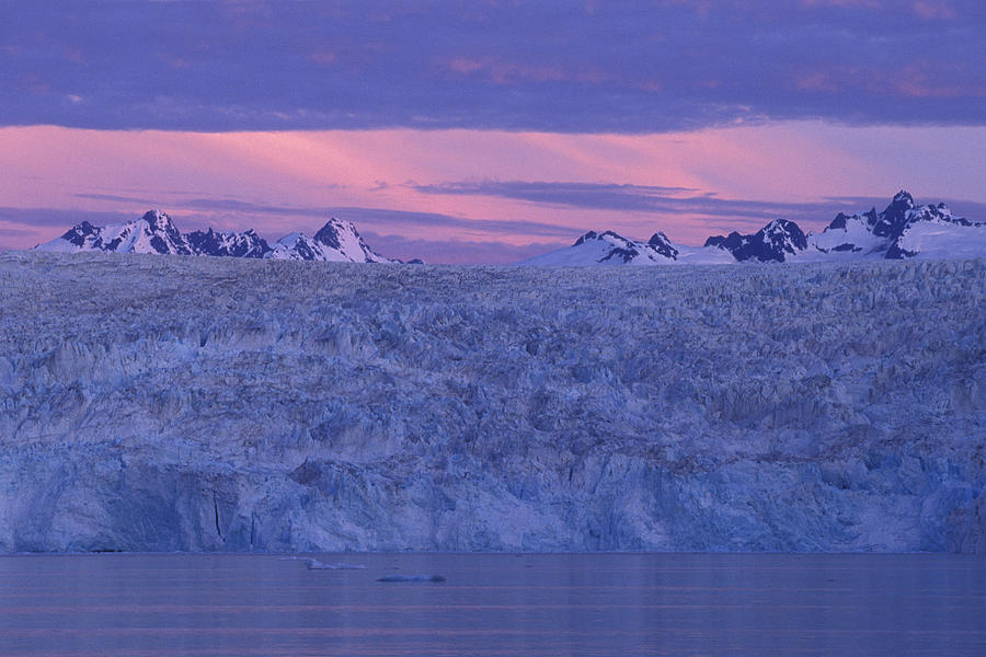 Glacier Photograph - Chenega Glacier At Sunrise by Tim Grams
