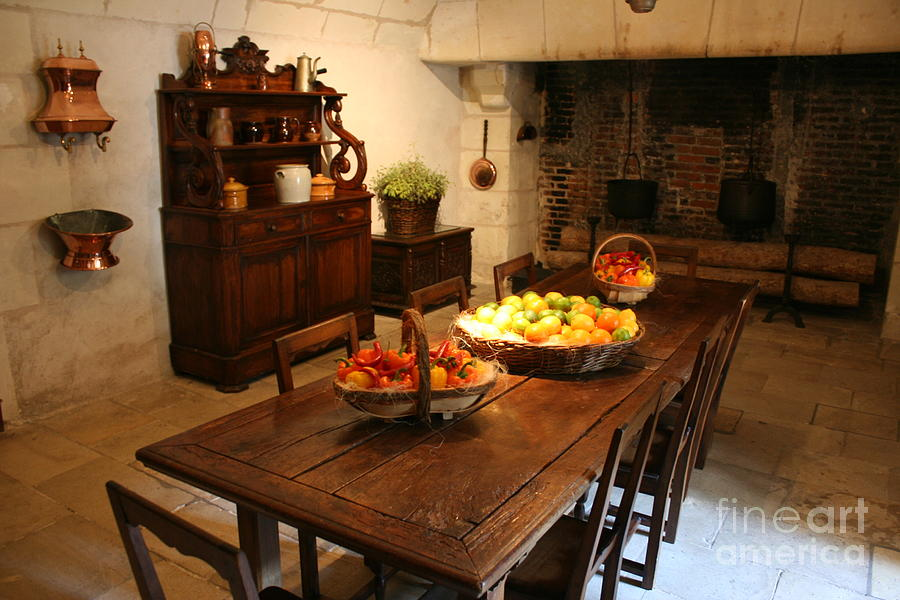 Kitchen Photograph - Chenonceau Kitchen  by Christiane Schulze Art And Photography