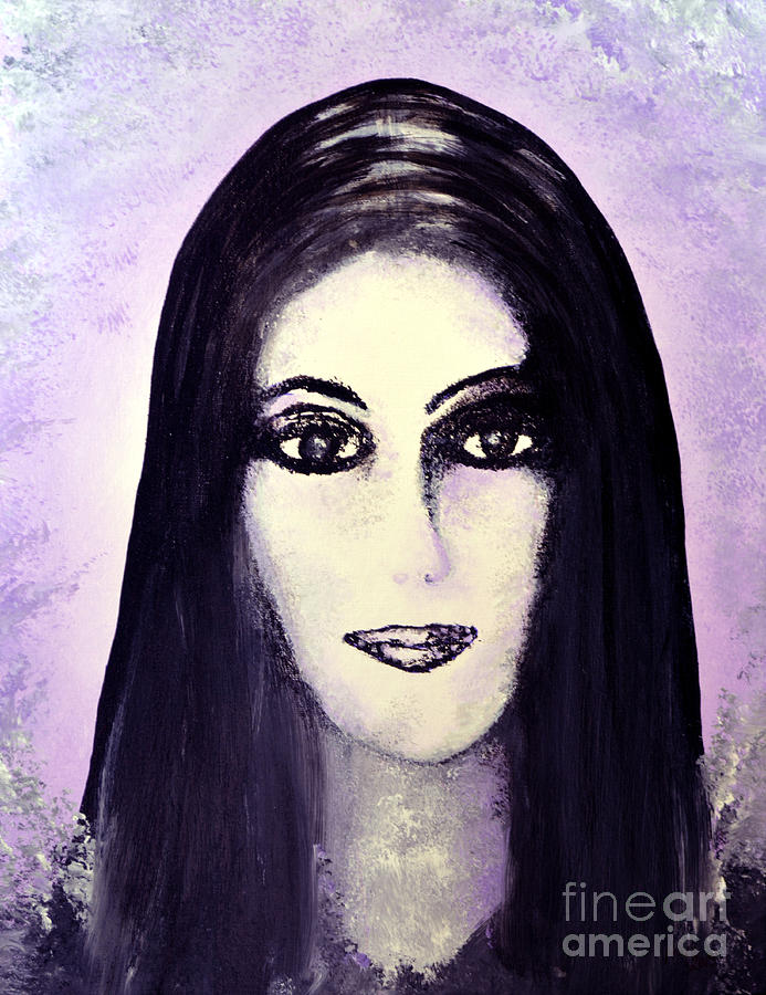 Diva Painting - Cher by Alys Caviness-Gober