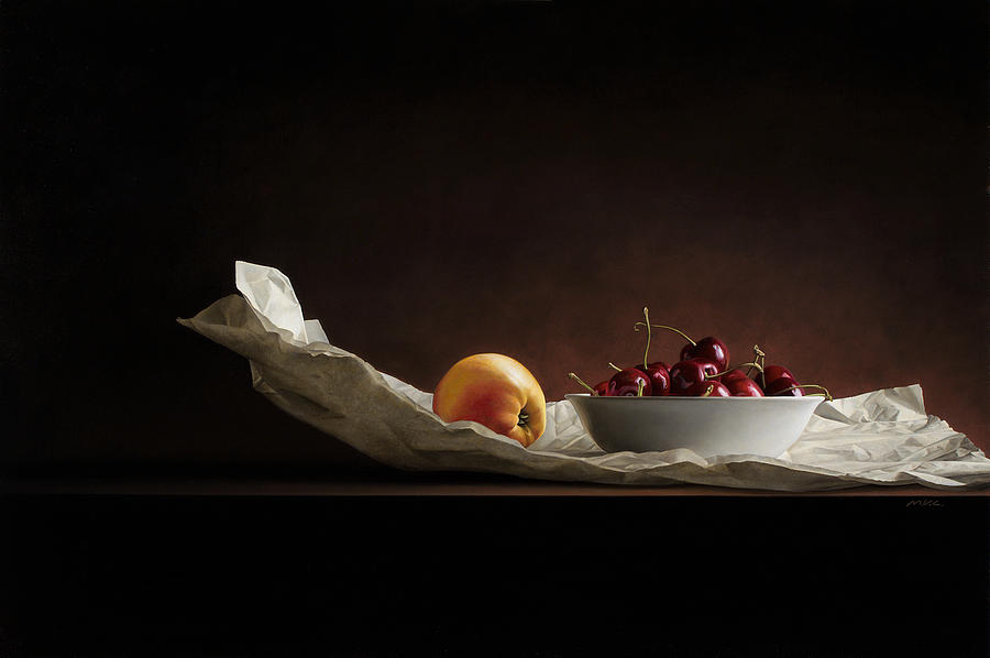 Stillife Painting - Cherie by Mark Van crombrugge
