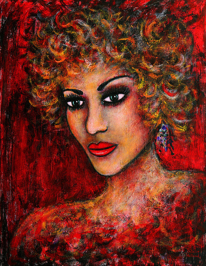 Woman Painting - Cherise by Natalie Holland