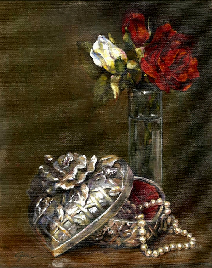 Roses Painting - Cherished Memories by Gini Heywood