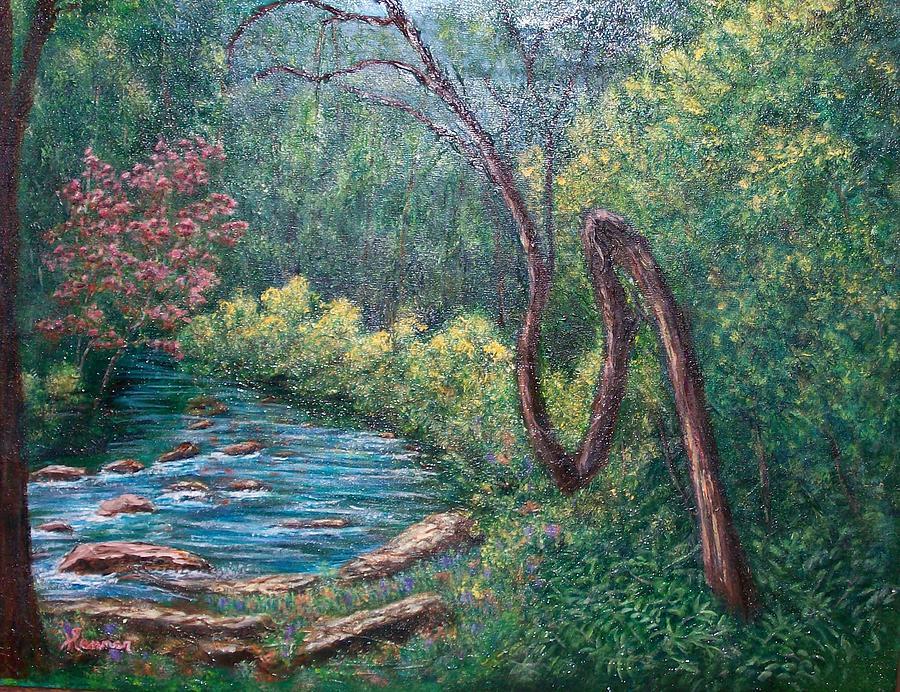 Landscape Painting - Cherokee Marker by Sandy Hemmer