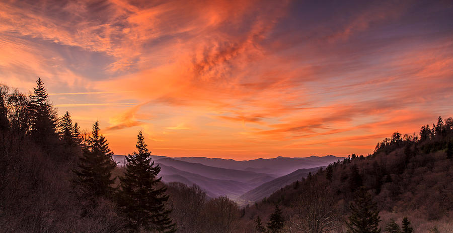Cherokee Overlook At Dawn Photograph by Dennis Govoni
