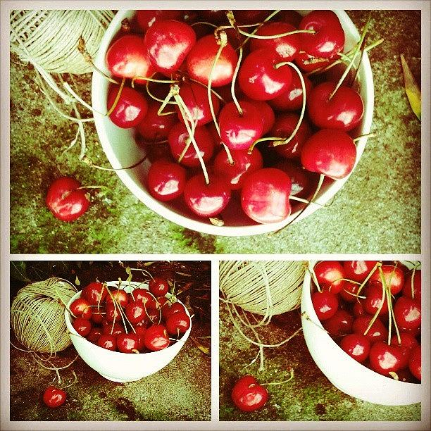 Beautiful Photograph - Cherries by Emanuela Carratoni