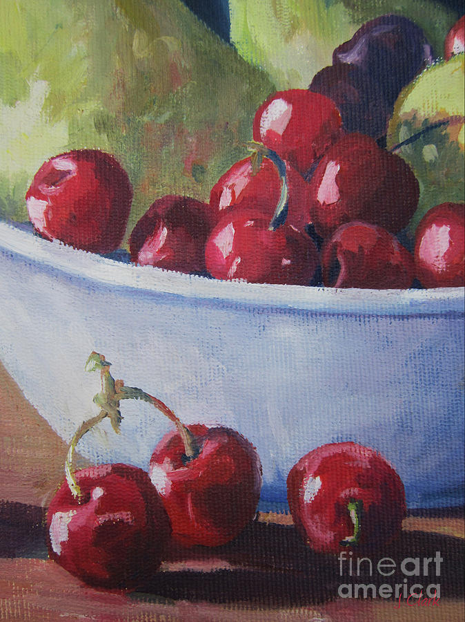 Cherry Painting - Cherries by John Clark
