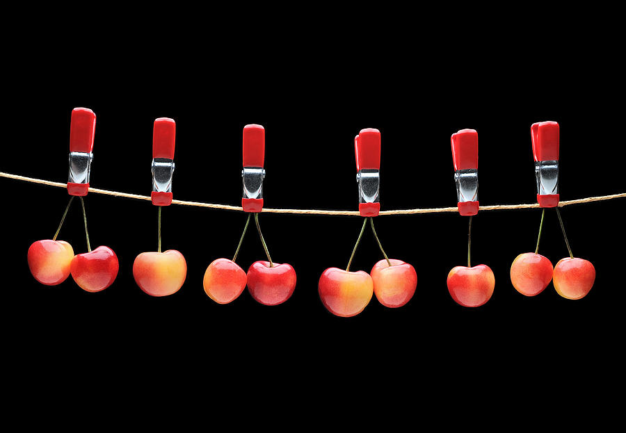 Artist Photograph - Cherries by Krasimir Tolev