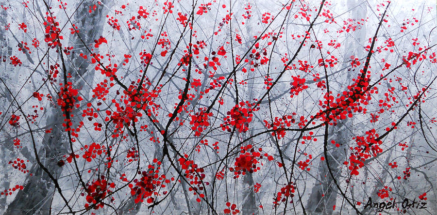Abstract Painting - Cherry by Angel Ortiz