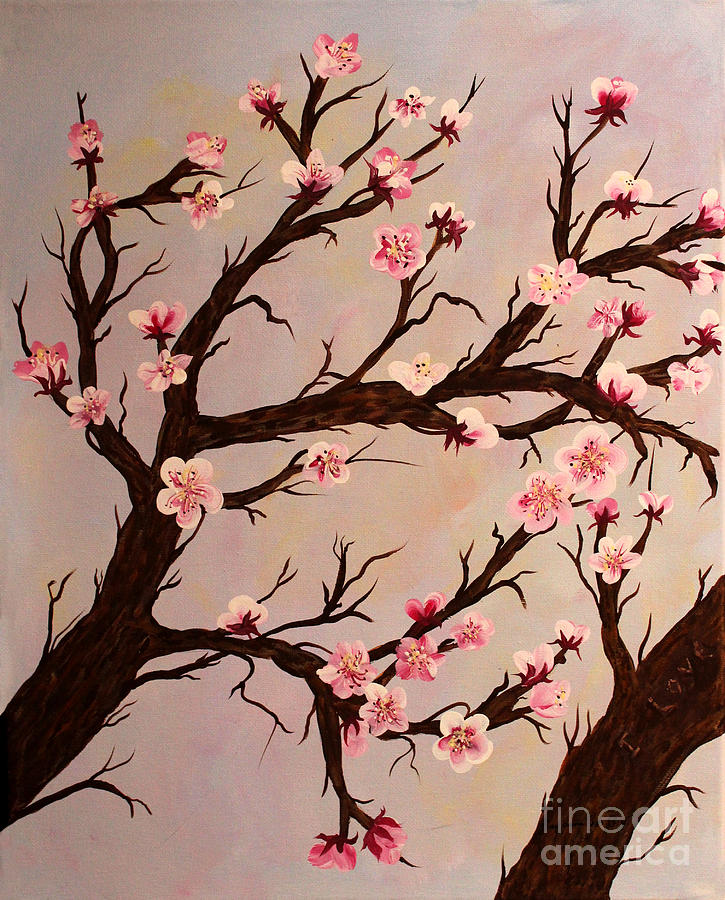 Cherry Blossoms Painting - Cherry Blossom 1 by Barbara Griffin