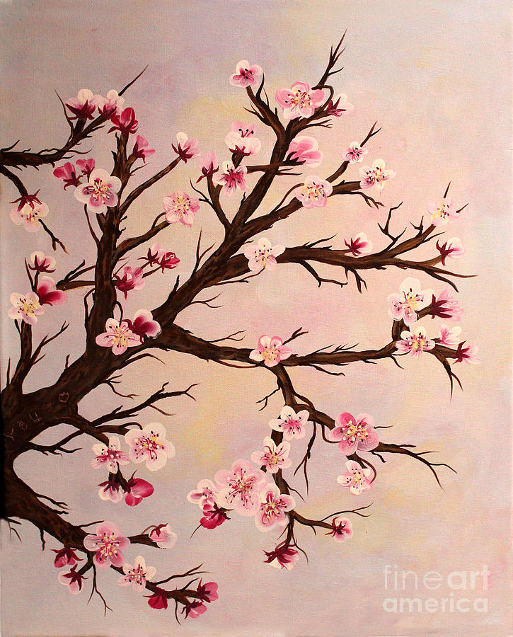Cherry Blossoms Painting - Cherry Blossoms 2 by Barbara Griffin