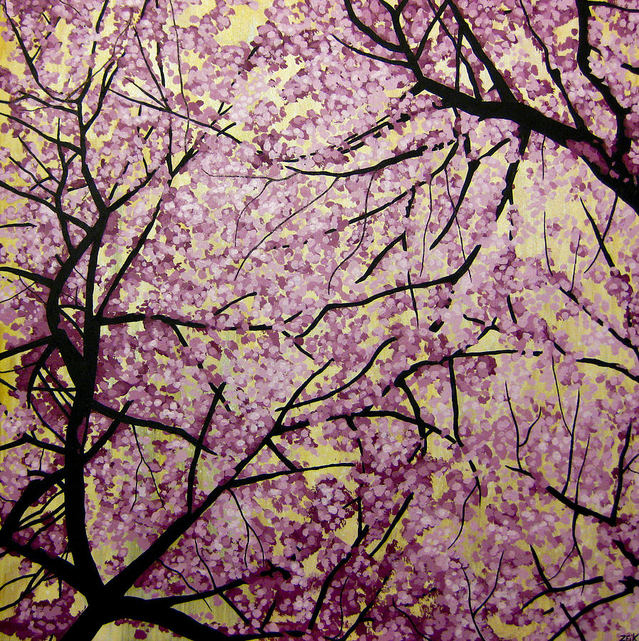 Cherry Blossoms Painting - Cherry Blossoms by Bobby Zeik