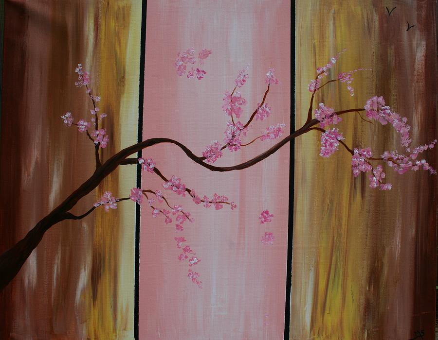 Modern Painting - Cherry Blossoms by Monica Art-Shack