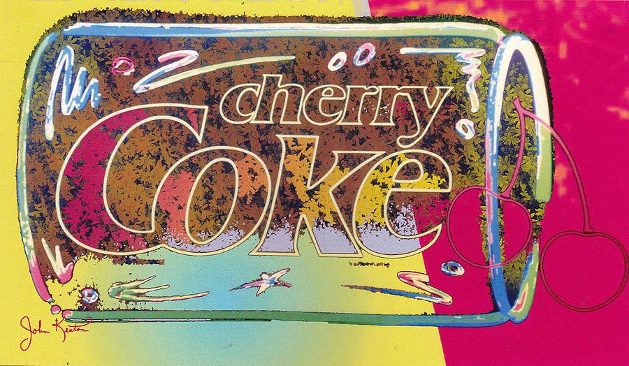 Digital Painting Digital Art - Cherry Coke 5 by John Keaton