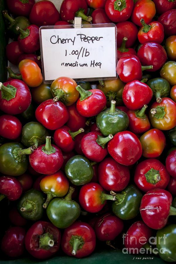 Chili Photograph - Cherry Peppers by Janice Rae Pariza