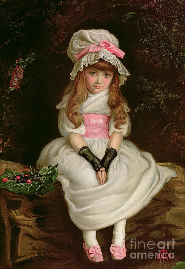 Child Painting - Cherry Ripe by Sir John Everett Millais