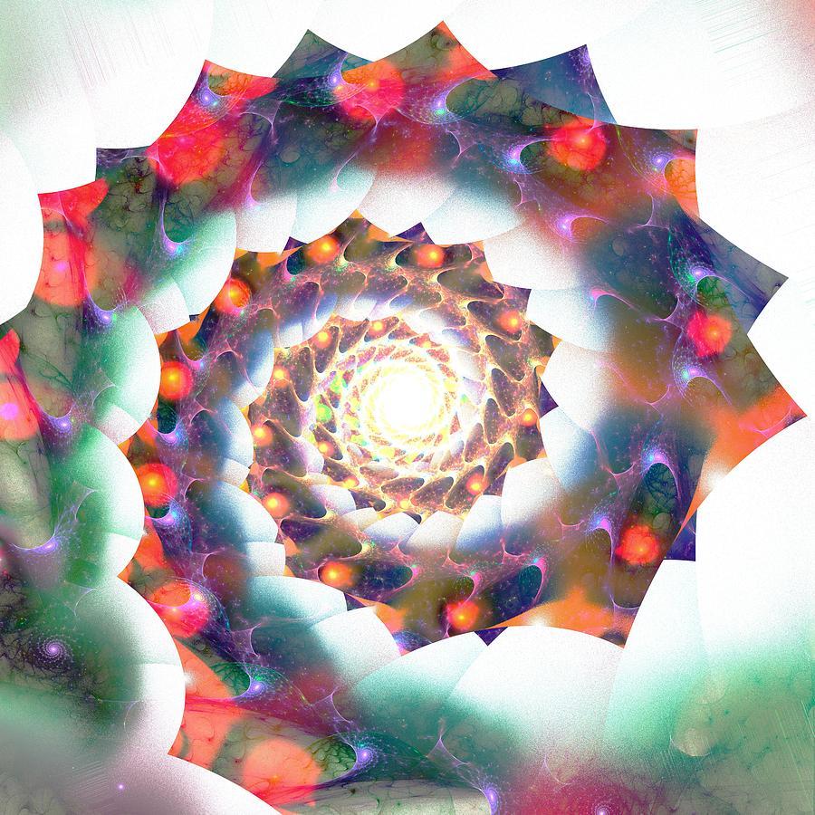 Malakhova Digital Art - Cherry Swirl by Anastasiya Malakhova