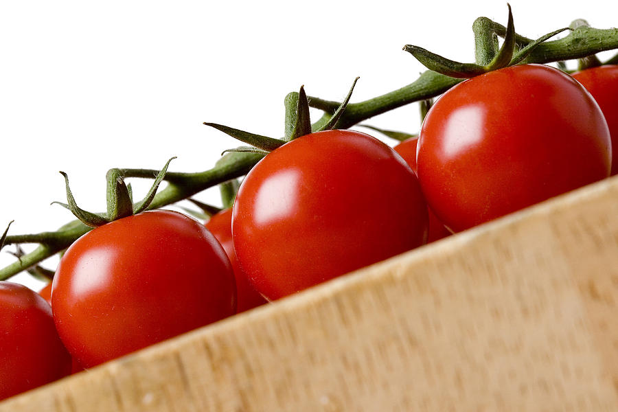 Vegetable Photograph - Cherry Tomatoes by Nicole Neuefeind