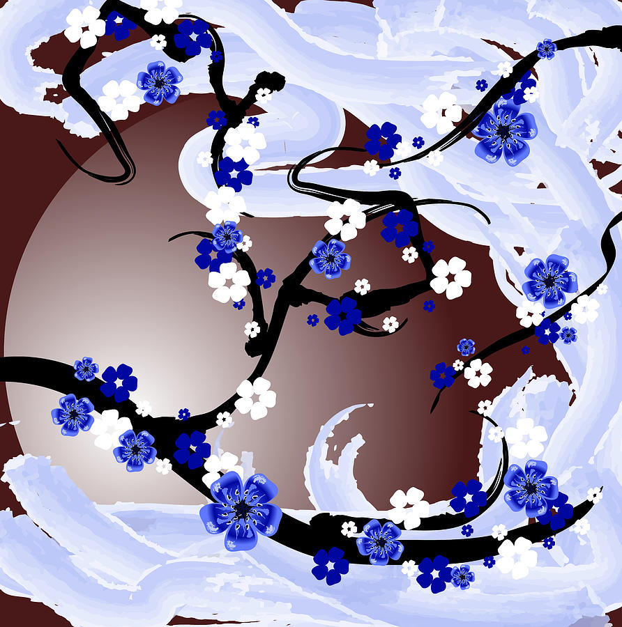Cherry Tree Digital Art - Cherry Tree_wisperwind by Mellisa Ward