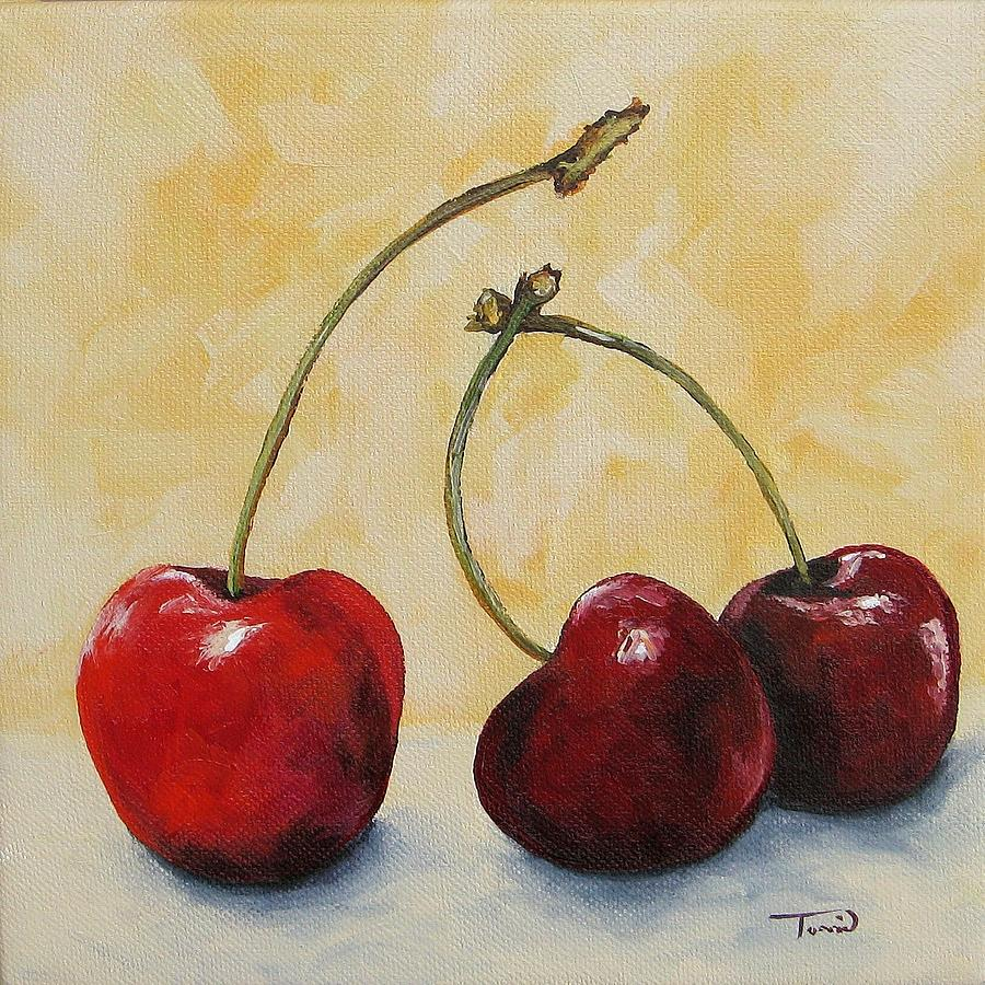 Cherry Painting - Cherry Trio by Torrie Smiley