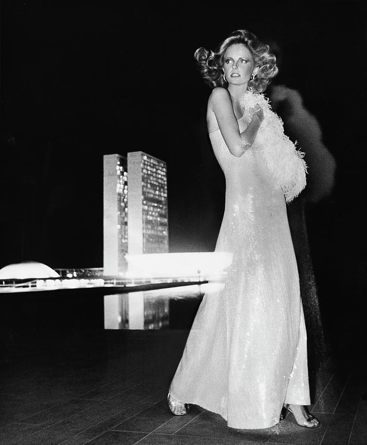 Image result for Cheryl Tiegs in a Gown by Halston, Brasilia. 1973, Kourken Pakchanian.