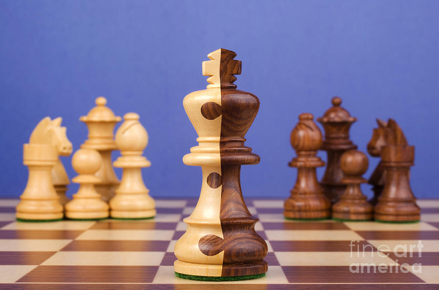 Chess Photograph - Chess Corporate Merger by Colin and Linda McKie
