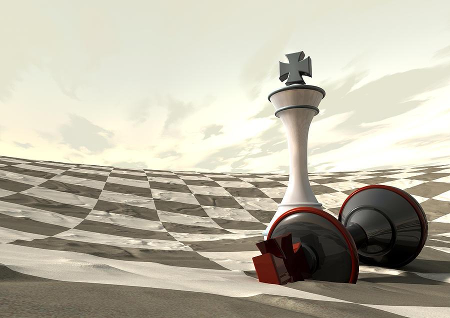 Chess Digital Art - Chess Desert Game Over by Allan Swart