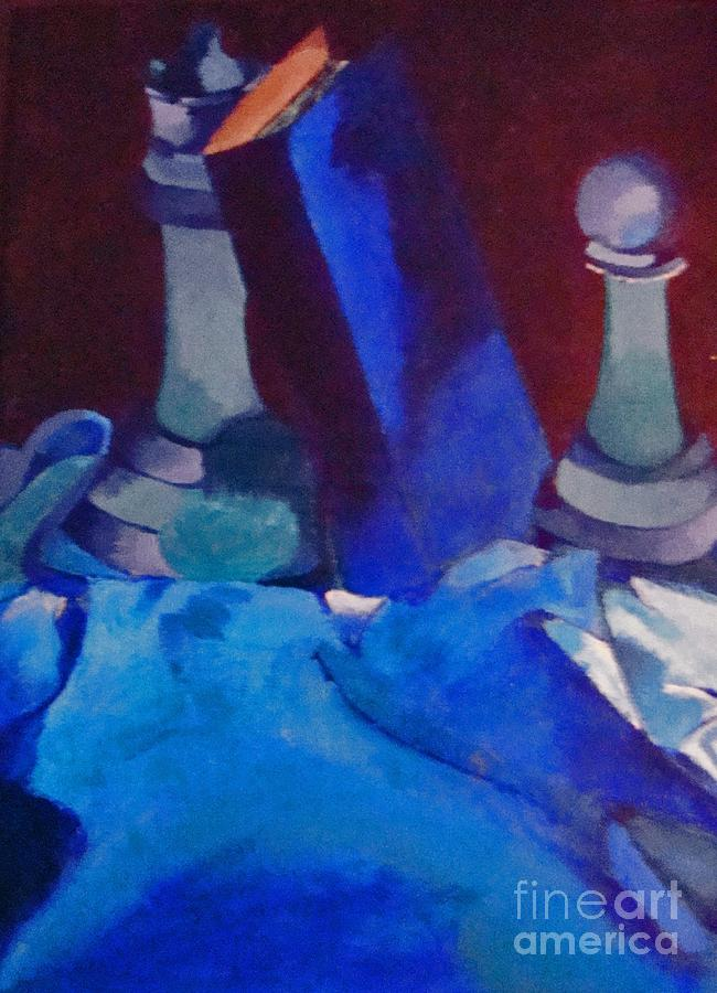Blue Painting - Chess Peace by Brittany Perez