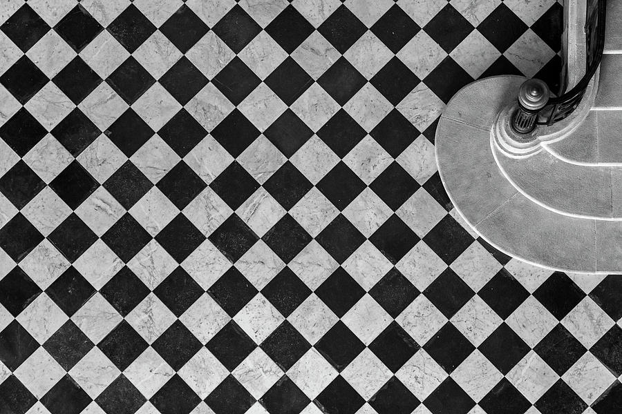 Marseille Photograph - Chessboard Staircase by Jean-louis Viretti
