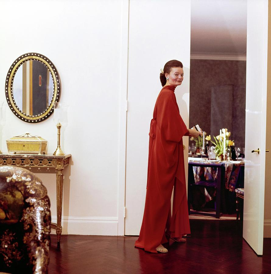 Chessy Rayner In Her Dining Room Photograph by Horst P. Horst