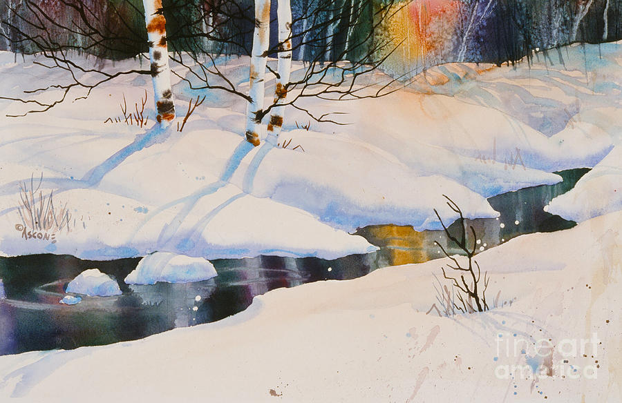 Chester Creek Shadows Painting - Chester Creek Shadows by Teresa Ascone