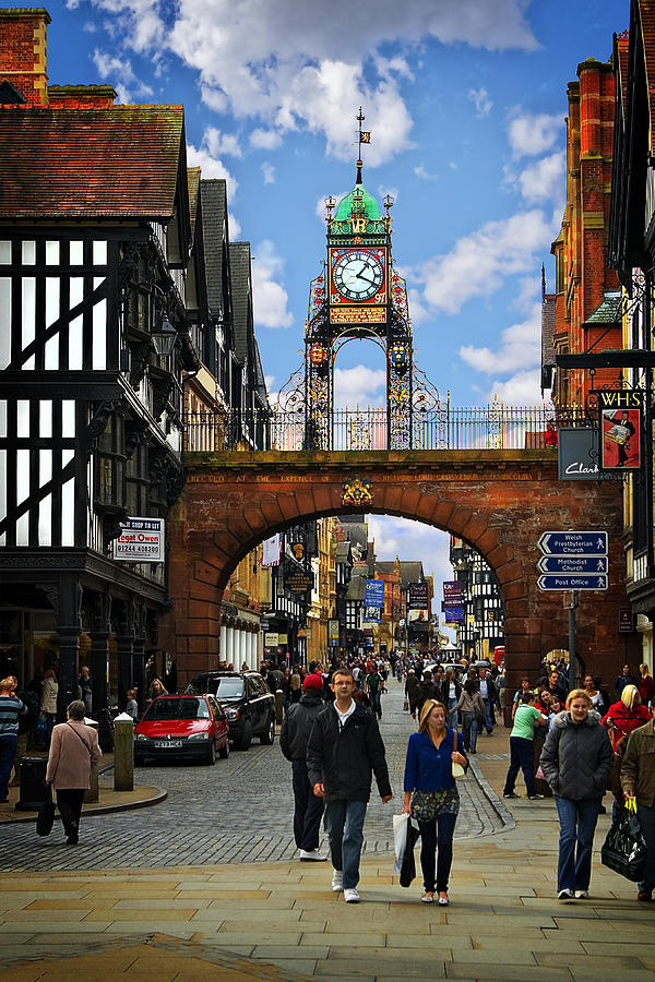 Chester Eastgate Clock Photograph By Meirion Matthias
