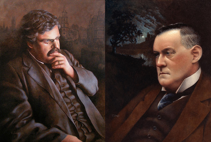 G.k. Chesterton Painting - Chesterbelloc by Timothy Jones