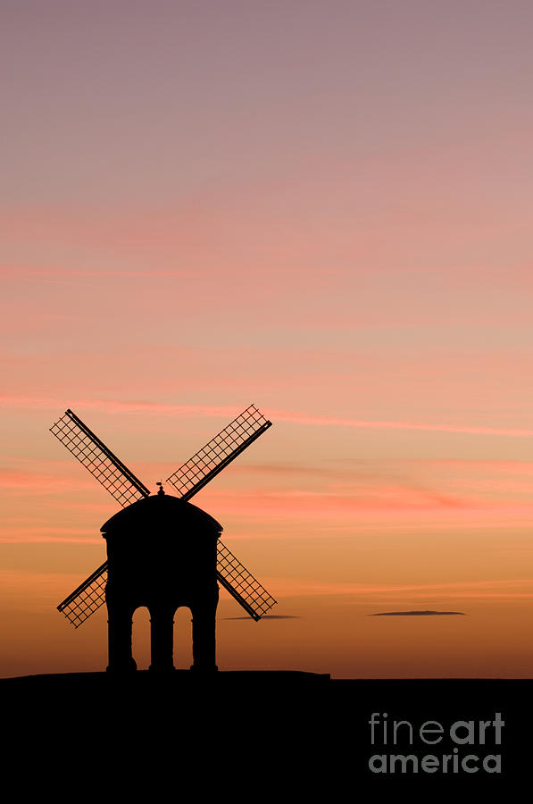 Arch Photograph - Chesterton Windmill by Anne Gilbert